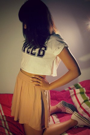 Topshop top - Converse shoes - H&M skirt