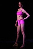 hot pink swimwear