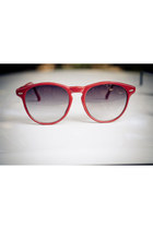 red 80s vintage sunglasses
