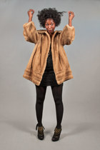 faux fur brown vintage coat