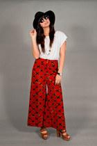 print vintage pants