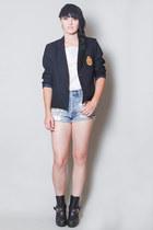 navy wool penelopes vintage blazer