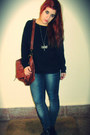 Blue-vaquero-zara-jeans-brown-cuero-stradivarius-bag