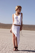 TORI PRAVER SWIMWEAR LONG COVER UP IN WHITE