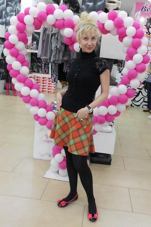 salmon shiny black Betty Boop shoes - black HAPENNING jacket