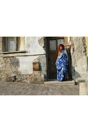 maxi dress Zara dress - denim H&M vest
