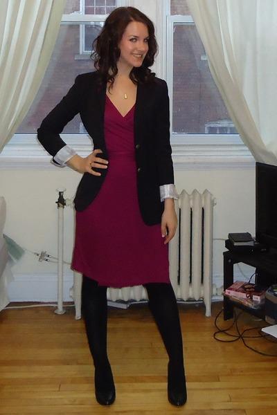 d068528a879 Talula blazer - wrap dress Old Navy dress - Sentiments tights - Aldo wedges