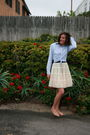 White-vintage-tulle-skirt-blue-gap-mens-shirt