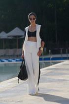 white Mason by Michele Mason jacket - black Celine bag