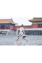 ivory transparent Vivian Chen top - black Simon Rocha bag