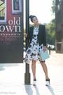 White-rachel-comey-dress-black-helmut-lang-blazer-light-blue-celine-bag