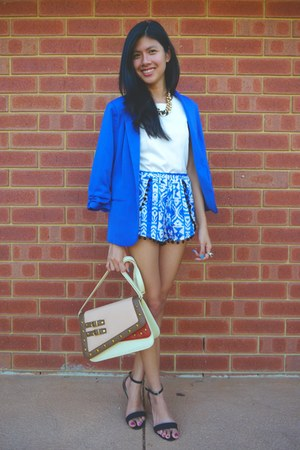 Valley Girl blazer - no name brand shorts - Dotti blouse