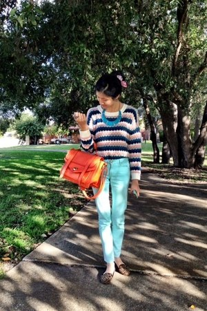 Valleygirl jumper - Dotti jeans - The Iconic bag - Topshop flats