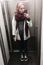 bronze my moms vintage belt - navy high waisted pull&bear jeans