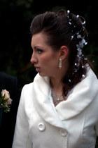 dress - coat - accessories - earrings - heels