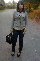 heather gray jacket - Mexx shirt - Sprider jeans - black Shoe AQUARIUM shoes - b