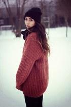 brick red vintage sweater