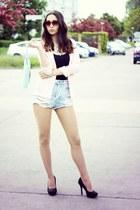 light pink Primark blazer - light blue pull&bear shorts