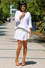 Nude-chloe-shoes-white-zara-sweater-aviator-ray-ban-sunglasses