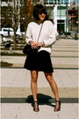 Beige-gap-sweater-black-chanel-bag-black-club-monaco-skirt