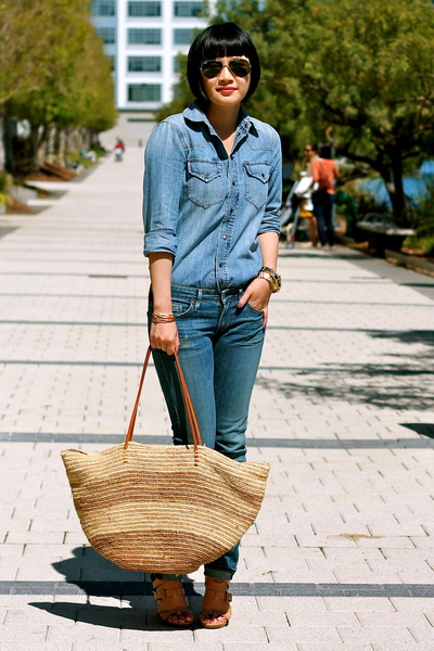 citizens of humanity jeans - chambray madewell shirt