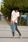 Chambray-madewell-shirt-ray-ban-sunglasses-gray-cargo-j-brand-pants