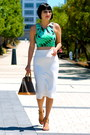 Crop-topshop-top-nude-chloe-shoes-louis-vuitton-bag-white-zara-skirt