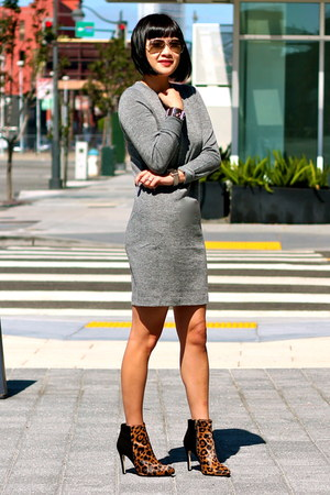 leopard print Club Monaco boots - grey Club Monaco dress