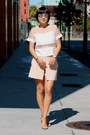 Pink-club-monaco-shorts-silver-dior-sunglasses-nude-chloe-heels