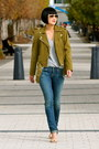Citizens-of-humanity-jeans-green-suede-club-monaco-jacket-michael-kors-heels