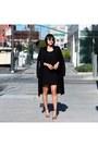 Black-aritzia-dress-black-all-saints-coat-aviator-christian-dior-sunglasses