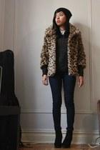 leopard print nastygal jacket - shimmery gold Forever21 jumper