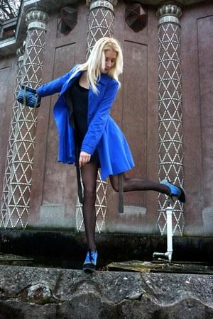 boots - Tally Weijl dress - F&F coat - Peacocks purse