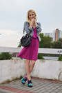 Hot-pink-lindex-dress-navy-h-m-blazer