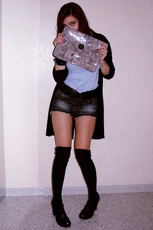 sky blue H&M shirt - black Calzedonia socks - navy Zara pants