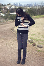striped thifted jumper - Urban Outfitters pants