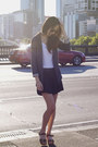 Textured-buocle-asos-blazer-pleated-shorts-ally-fashion-shorts