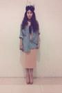 Vintage-top-vintage-skirt