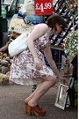 Lavand-dress-tawny-leather-jeffrey-campbell-heels