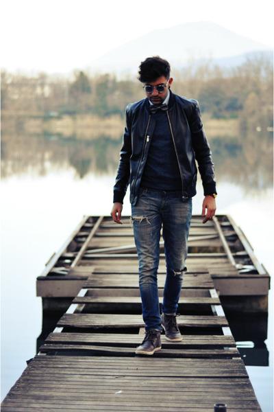 antony morato jeans - Zara jacket - H&M sweater