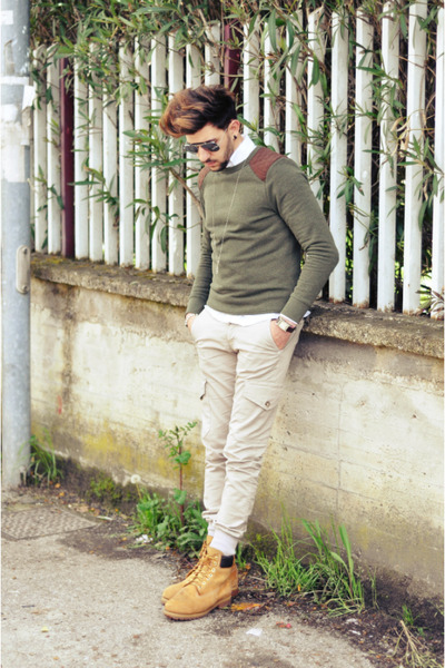Timberland boots - Swing jeans - H&M sweater - ray-ban glasses