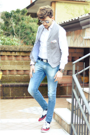 Zara shoes - Swing jeans - Spadari shirt - NaraCamicie cardigan