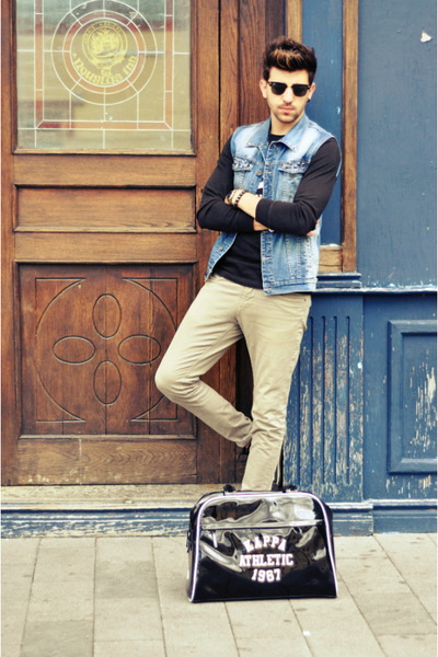 XAGON MAN jeans - Kappa bag - ray-ban sunglasses