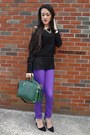 Deep-purple-forever-21-jeans-black-aeropostale-sweater