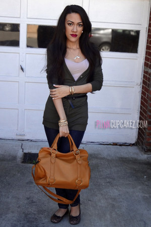 Forever21 top - Wet Seal jeans - OASAP bag - Forever21 necklace