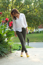 Forever21 blouse - Nine West heels - Gap pants - Michael Kors watch