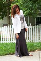 H&M blazer - JCrew shirt - Express skirt - Gap sandals