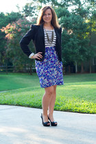 Anthropologie skirt - Forever 21 blazer - H&M top - Paris Hilton heels