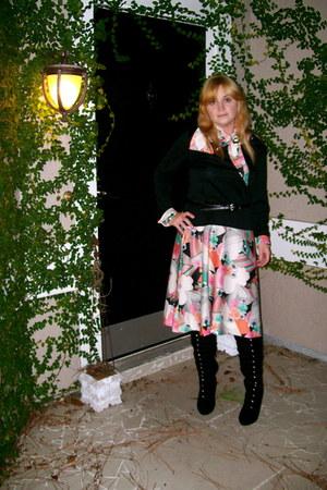 vintage dress Henry Lee dress - fahrenheit boots - black belt