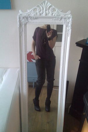 Zara top - Primark accessories - Zara pants - Primark tights - Primark boots